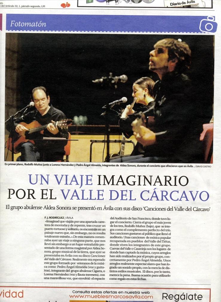 Diario de Ávila, 14/12/2013