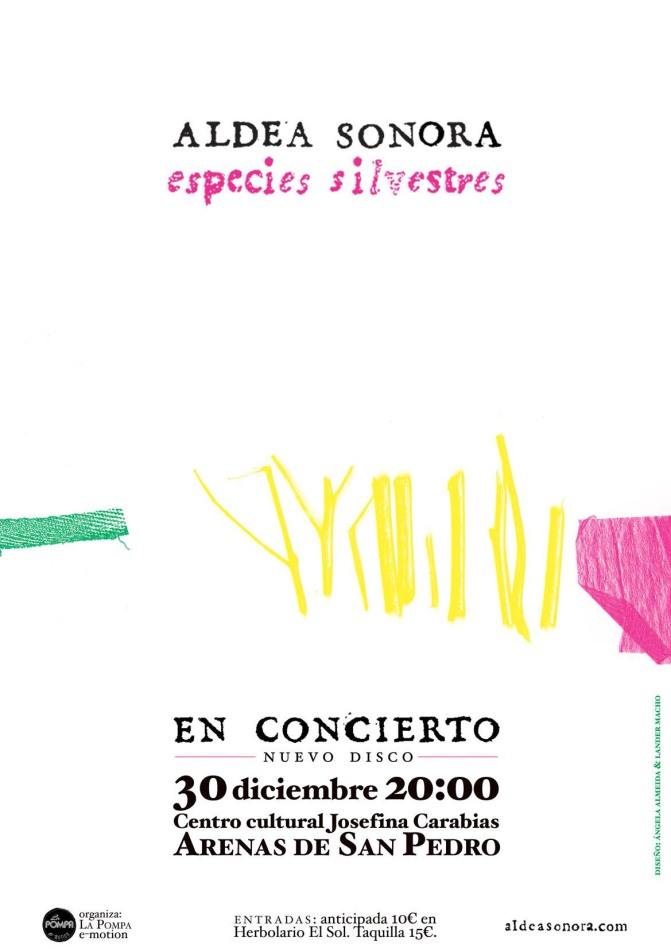 ALDEA SONORA cartel ESPECIES Arenas IMPRIMIR